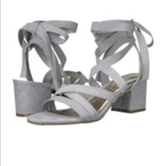38ba3183e27a Madden Girl Shoes - Light Blue Suede Lace Up Heel Sandals Size 8.5